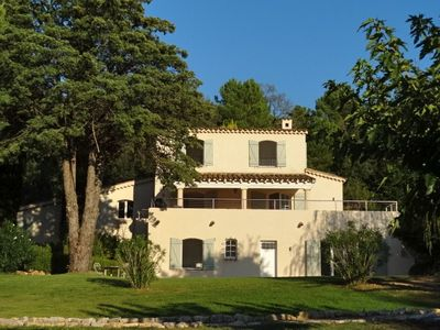 Villa La Prairie and the covered upper terrace with alfresco dining and BBQ.