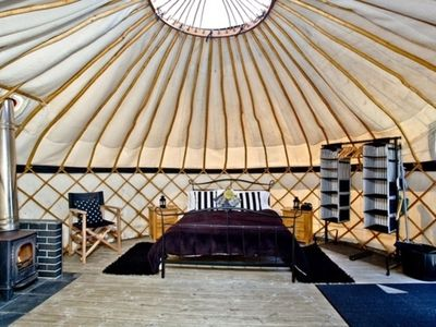 Photo for Cornish Yurt with Hot Tub (2)