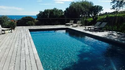 Photo for Villa with sea view, spacious, quiet, private heated pool