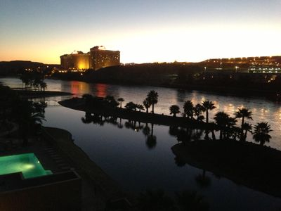 Dusk Falls on the Colorado River (From the Patio)