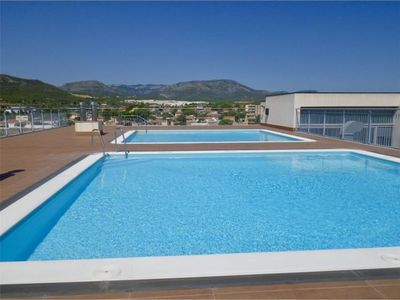 Photo for Recent apartment with pool sea view. Beach at 900m