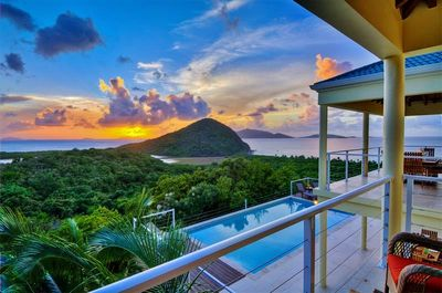 Let your jaw drop as you gaze out at the sunset from the private second-floor!