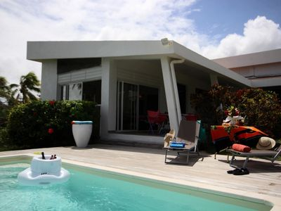 Photo for Villa 10 feet in the water, pool, sea view, walk to beach