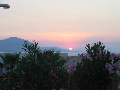 Sunset over The Akamas from the terrace