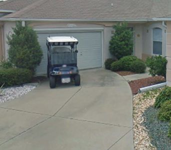 Includes golf cart