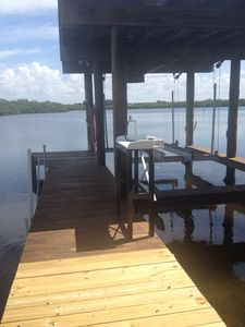 Perfect Dock with Lift....also Fish Cleaning table when you catch the Big One!
