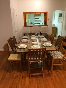 Dinning table fully open.