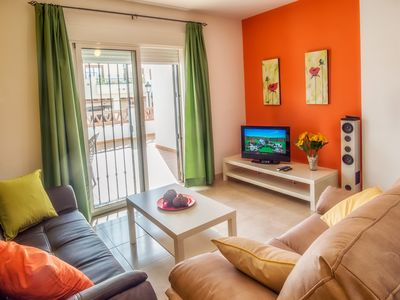 Photo for Nerja: New 2 bedroom apartment for 4-5 people, near the beach with communal pool