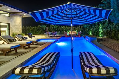 In Pool Furniture & Two Luxe Wet Decks