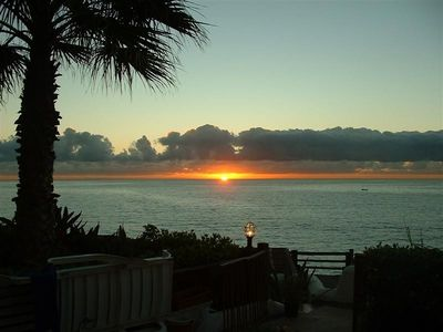 Sunrise over the sea from the terrace
