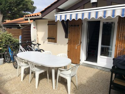 Photo for Patio villa in residence with pool near the beach