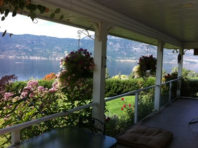 Beautiful shaded side patio with breathtaking view