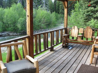 Covered deck overlooking Piper Creek