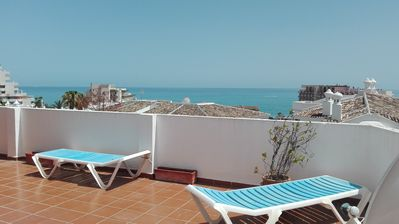 Photo for NEXT BEACH 3 DORM 100 MTS. SEA VIEW TERRACE. WIFI internet