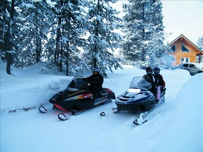 Snowmobile, Xcountry ski, snowshoe, hike, or 4 wheel right from the front door!