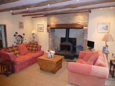 Sitting Room with woodburner and TV