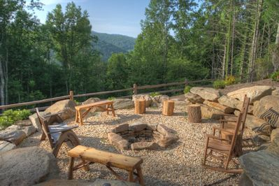 Enjoy the view with your morning coffee or evening glass of wine around the fire