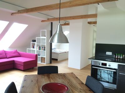 Photo for Hell & Modern! Apartment in Finning for your holiday in the region Ammersee!
