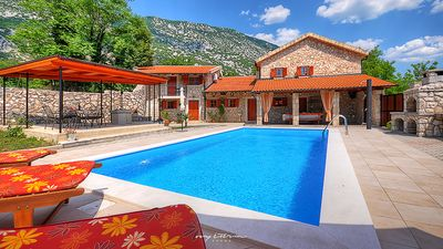 Photo for Beautiful stone house with private pool in Kvarner