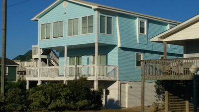 Photo for 6 Br 4 Ba 2800 Sq Ft 2nd Row Beach Cottage Across From Public Beach Access