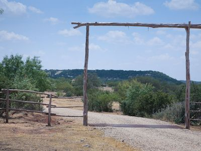 Photo for Absolutely Charming Rockview Cabin 2, Spectacular Views of Enchanted Rock!