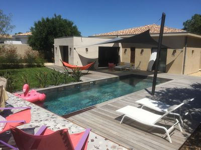 Photo for Architect's Villa 2018 - Pool - Center of Pradet and beaches on foot!