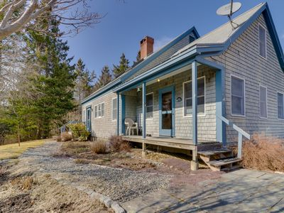 Photo for Tree-lined cottage w/ screened porch & beach access - four miles to Acadia NP!