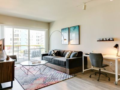 Photo for Walk to Venice Beach from a Sleek Apartment