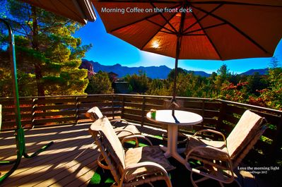 Front deck 700 sq. ft. For morning coffee. Is that enough room?