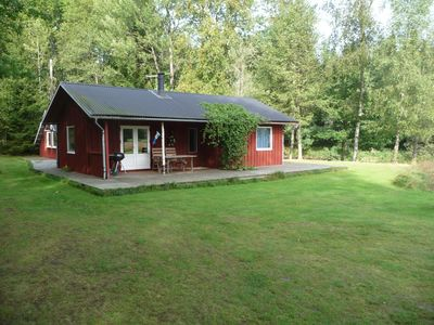Photo for Simple fishing cottage by the river Lagan with sauna, nature, hiking, fishing