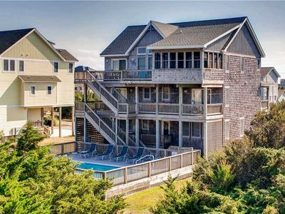 Photo for Lovely Oceanview Home, Only 1 Block from Beach Access w/ Pool, Hot Tub, Game Rm