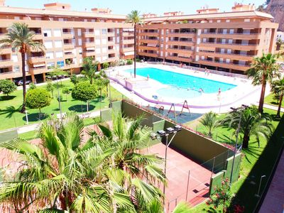 Photo for SPACIOUS AND COMFORTABLE APARTMENT WITH TERRACE AND VIEWS TO THE SWIMMING POOL