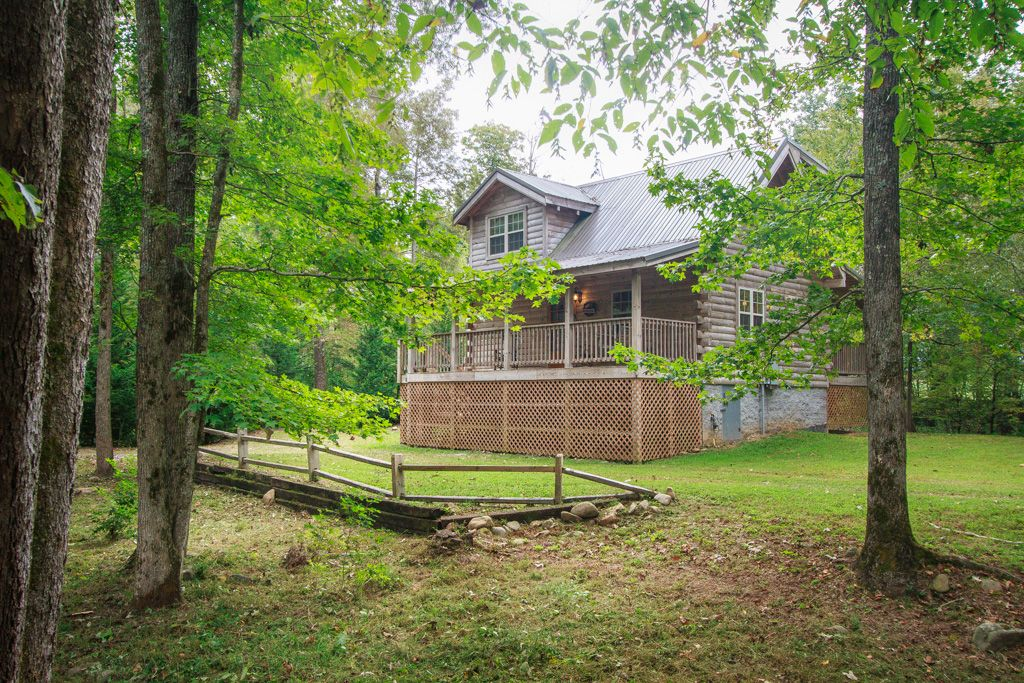 Real Log Cabin Trout Stream Fishing On Property 25