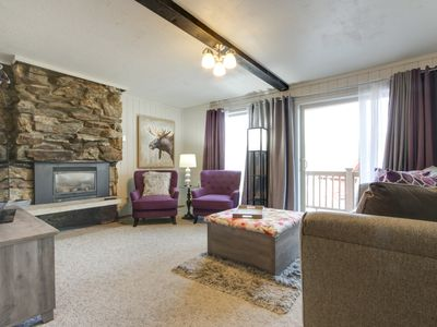 Photo for NEW LISTING! Modern condo with mountain views and close to Schweitzer skiing!