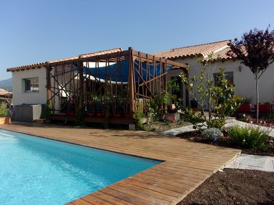 Photo for New, spacious villa with pool between the Pic Saint Loup and the sea