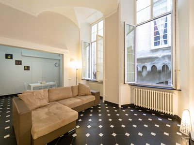 Photo for Apartment in the heart of the historic center, a dip in the history of Genoa