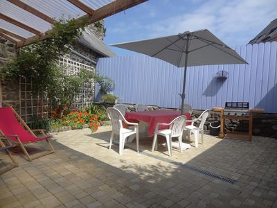 Photo for stone house in the port, 200m from the sea and shops, quiet street