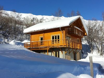 Photo for Independent Chalet * * * 12 people-Decoration S