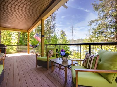 Photo for Lakefront home w/ private dock, beach, firepit, lake views & kayak/paddleboard!