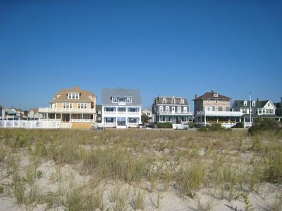 Griscom House from beach - 2nd from left