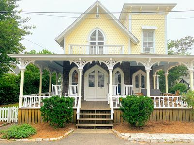 Photo for Oak Bluffs Victorian - steps from circuit ave, ocean park, & beach