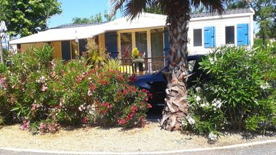Photo for Luxury mobile home in campsite 4 stars VALRAS PLAGE