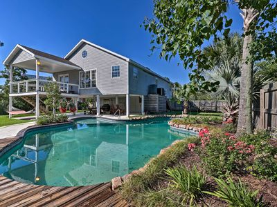 Photo for NEW! Canalfront Home w/Pool - 12.6Mi to Gulfport!