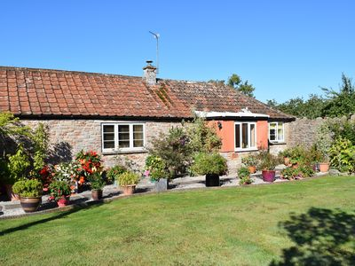 Photo for Peaceful Rural Cottage With Views Of The Mendip Hills AONB & Somerset Levels