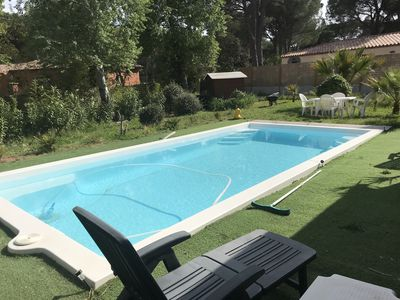 Photo for Independent studio in villa with pool 40 minutes from the beaches