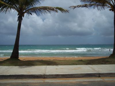 surfing beach to the left of condo