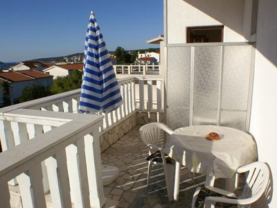 Photo for Studio flat with terrace and sea view Rogoznica