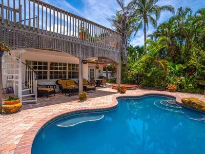 Photo for Canal front pool home