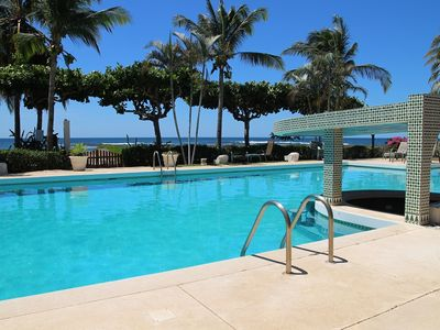 Photo for Oceanfront large 2 bedroom condo located in quiet area