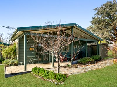 Photo for The Orchard Cottage- Honeymoon splendour overlooking a lawn tennis court